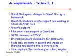 accomplishments technical i
