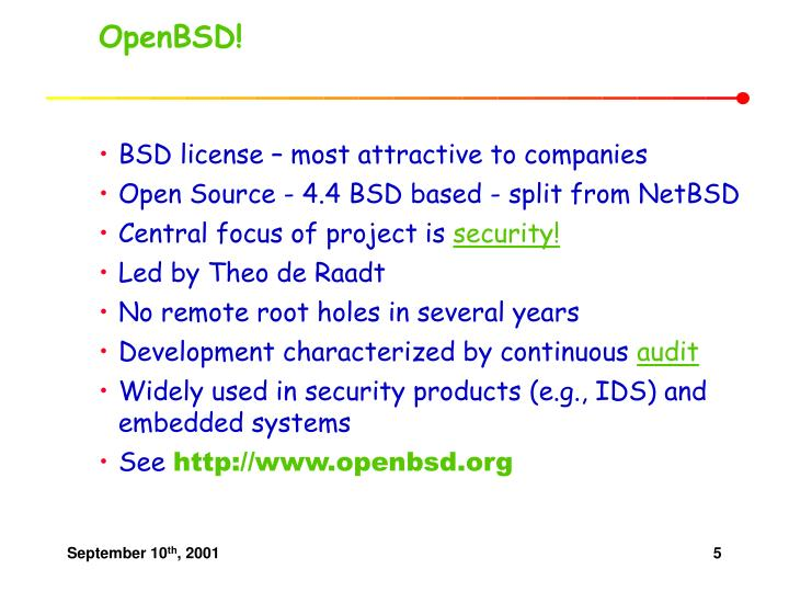OpenBSD!