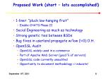 proposed work short lots accomplished