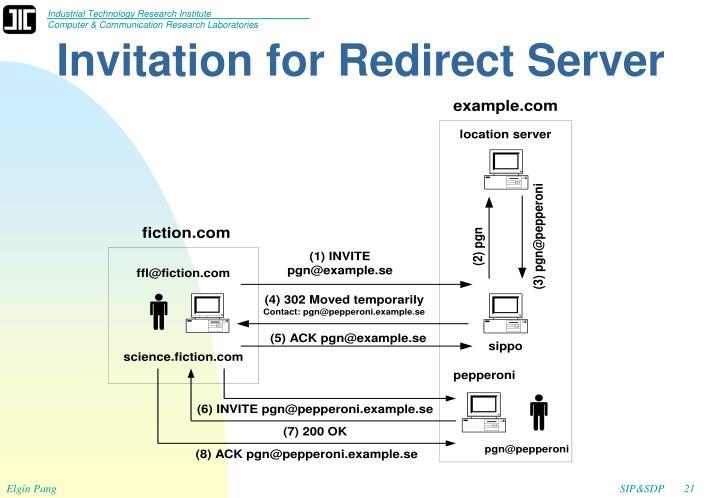 Invitation for Redirect Server