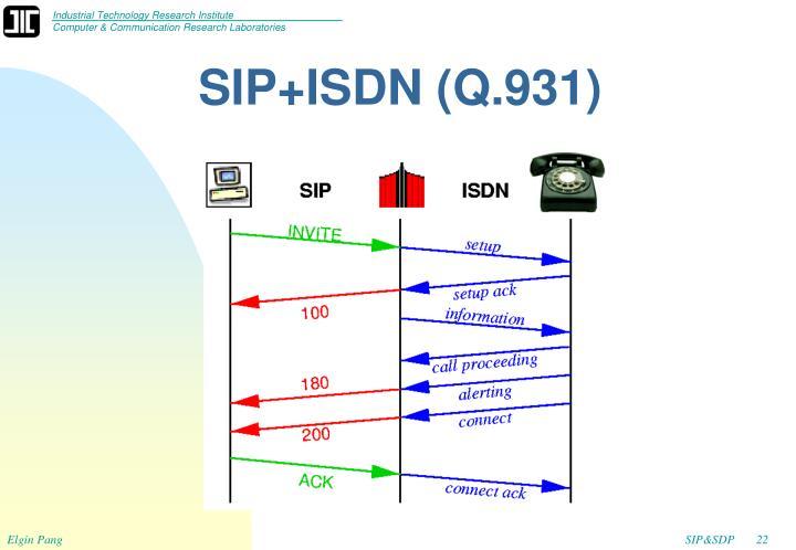 SIP+ISDN (Q.931)