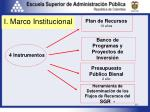 i marco institucional