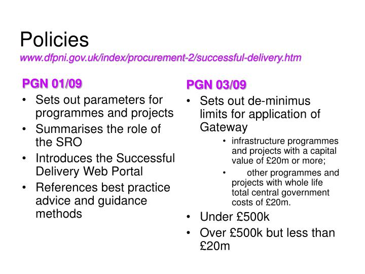 Policies www dfpni gov uk index procurement 2 successful delivery htm