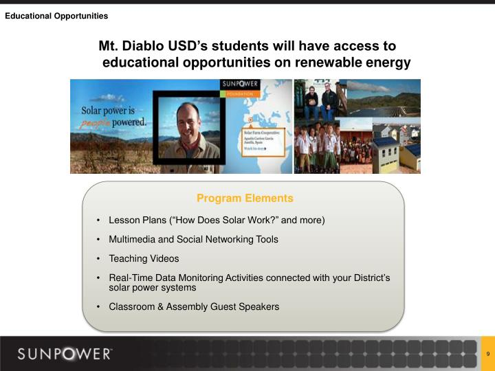 Mt. Diablo USD's students will have access to