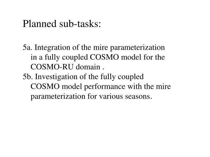 Planned sub-tasks: