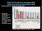 project for excellence in journalism 2008 state of the american news media study