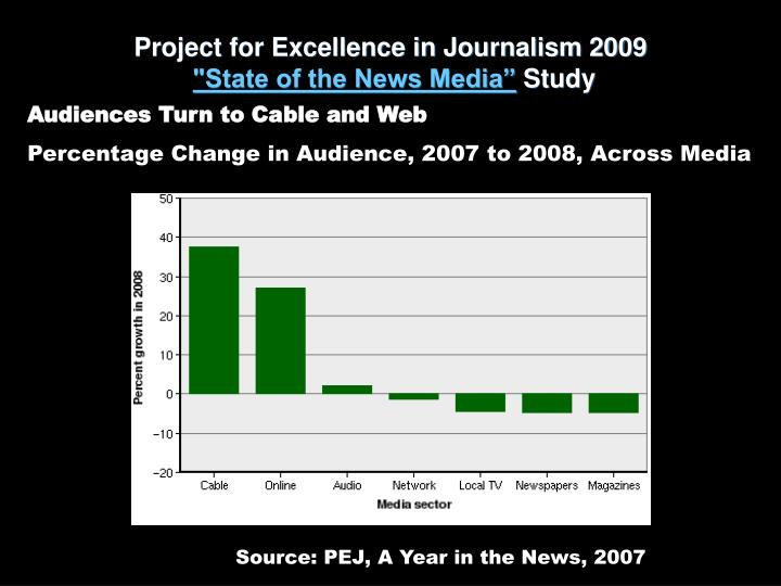 Project for Excellence in Journalism 2009