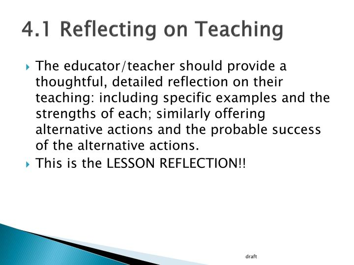 4 1 reflecting on teaching