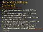 ownership and tenure continued