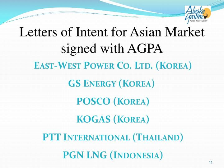 Letters of Intent for Asian Market signed with AGPA