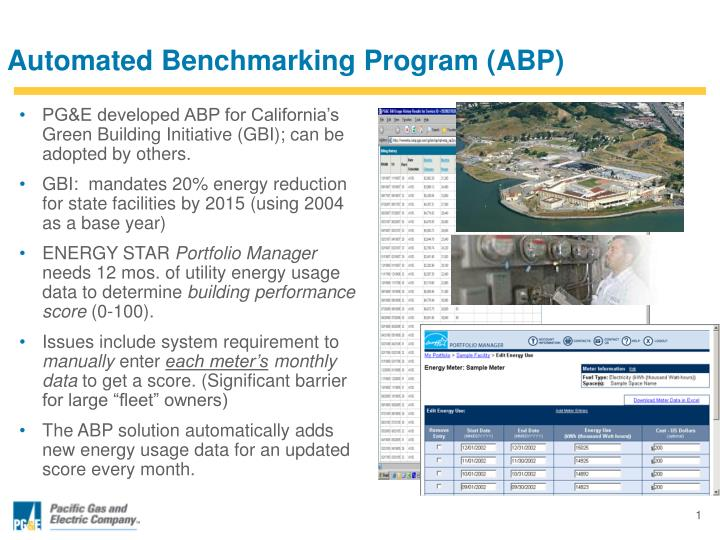 Automated Benchmarking Program (ABP)