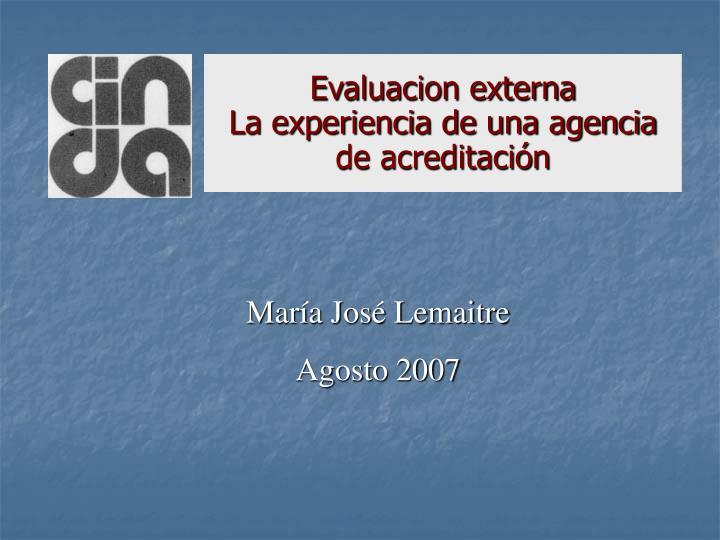 Evaluacion externa