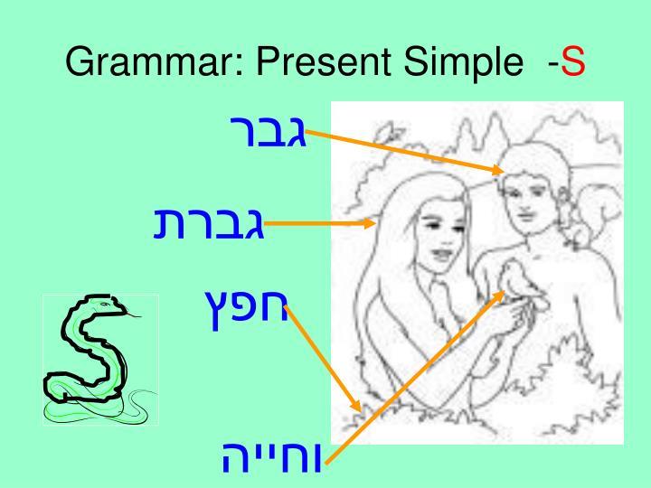 Grammar: Present Simple  -