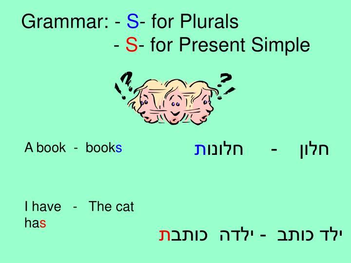 Grammar: -