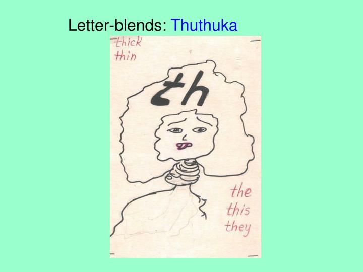 Letter-blends: