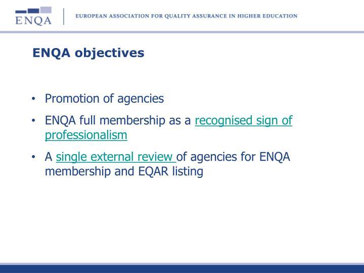 ENQA objectives