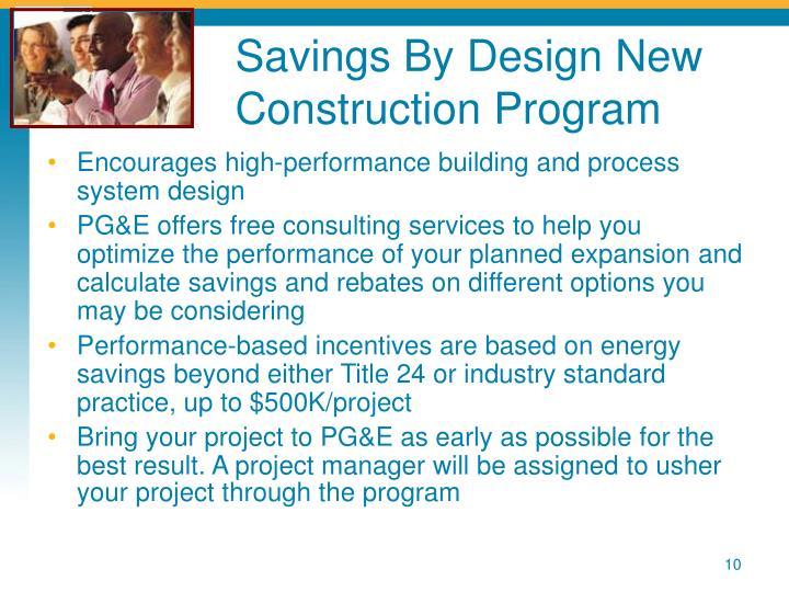 Savings By Design New Construction Program