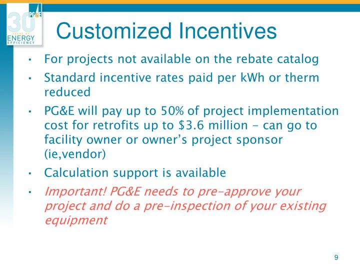 Customized Incentives