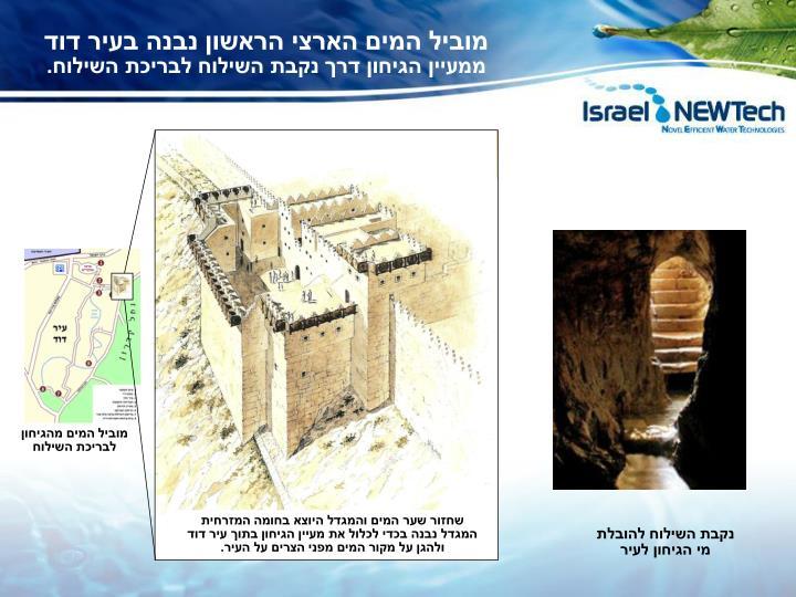 מוביל המים הארצי הראשון נבנה בעיר דוד