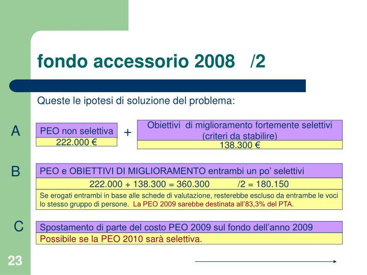 fondo accessorio 2008   /2