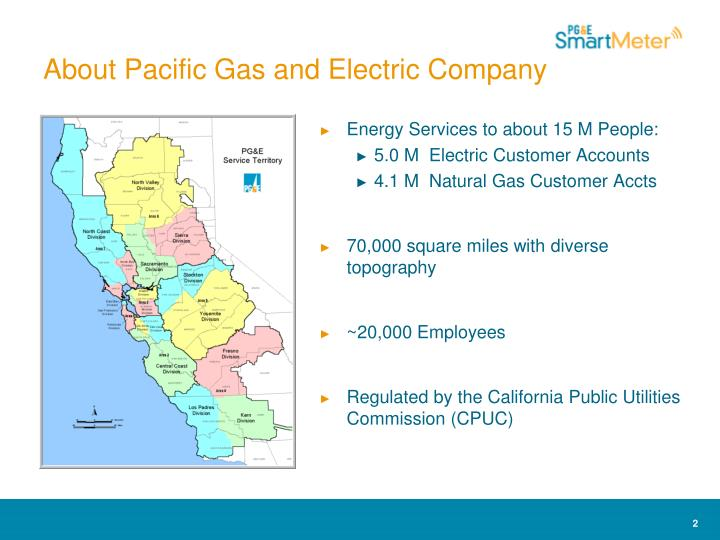 About pacific gas and electric company