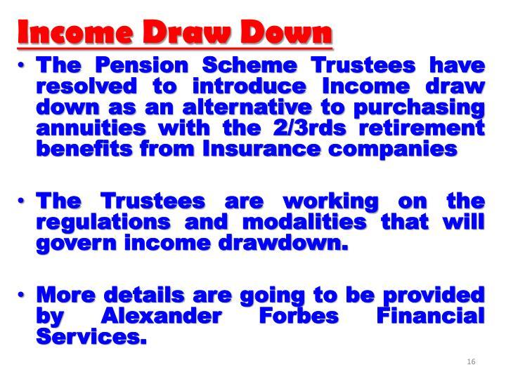 Income Draw Down