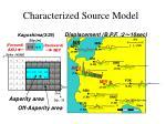 characterized source model