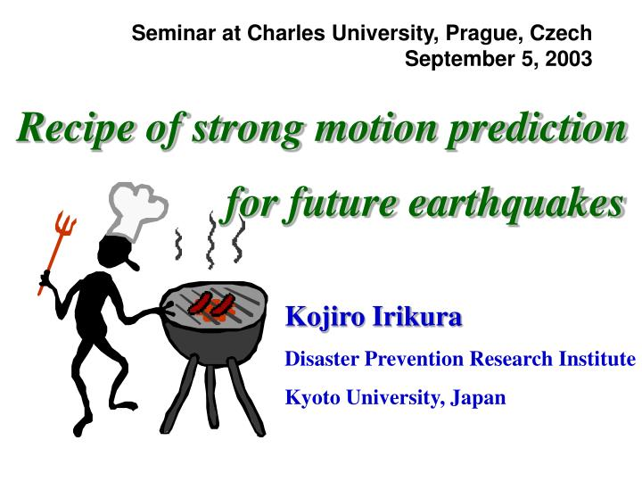 Seminar at Charles University, Prague, Czech