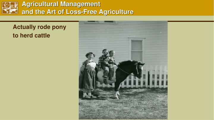 Agricultural Management