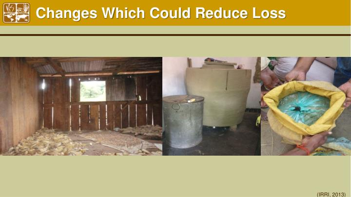 Changes Which Could Reduce Loss
