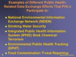 examples of different public health related data exchange efforts that phl s participate in