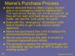 maine s purchase process