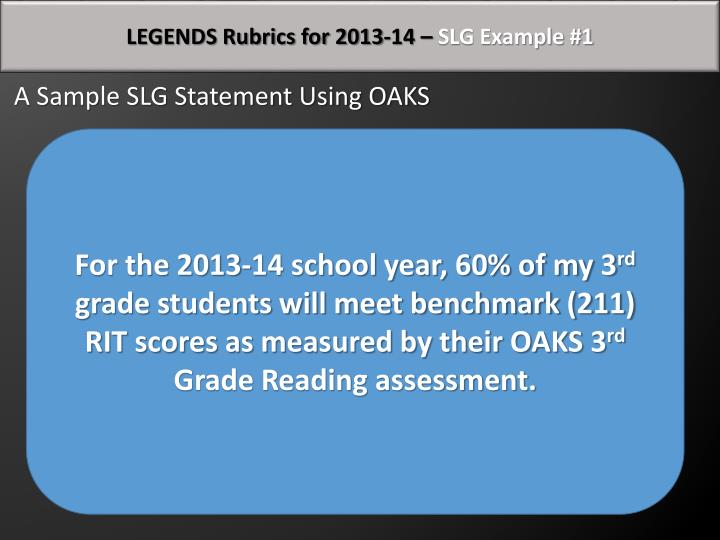 LEGENDS Rubrics for 2013-14 –