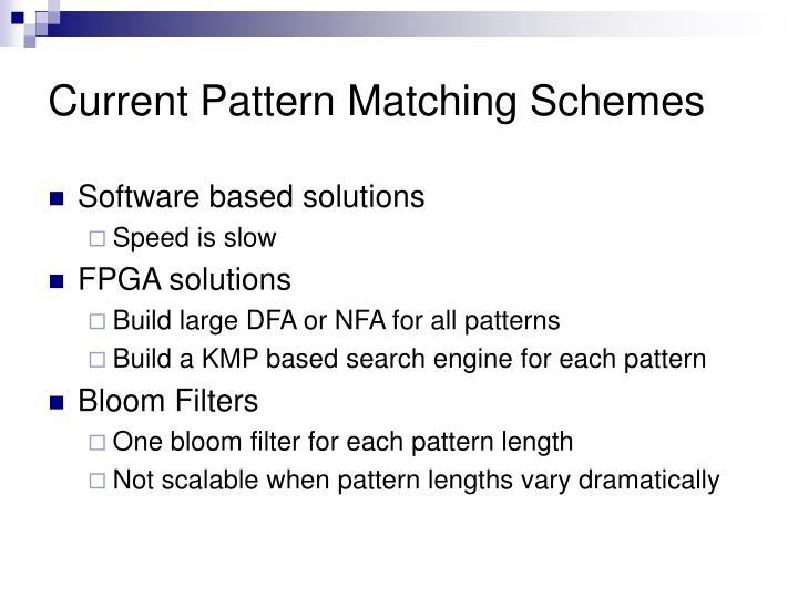 Current Pattern Matching Schemes