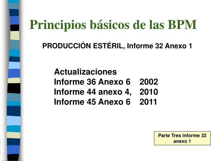 Principios básicos de las BPM