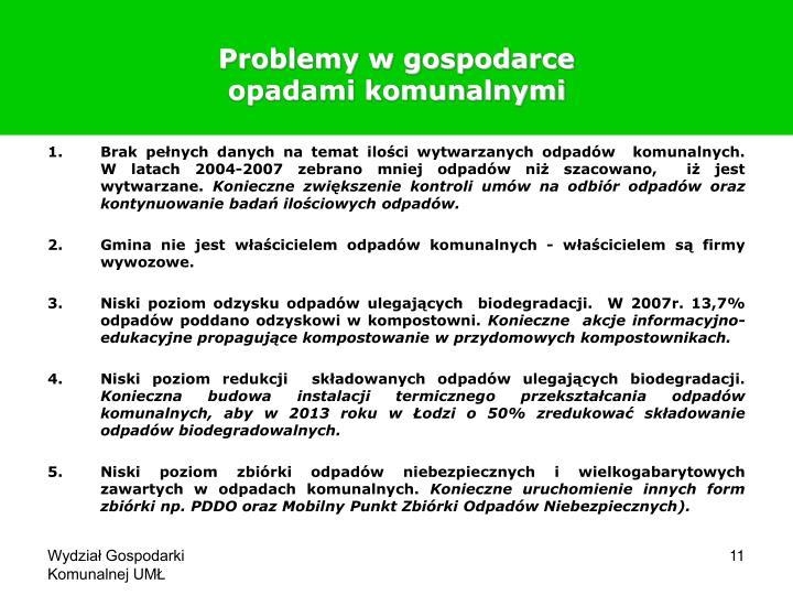 Problemy w gospodarce