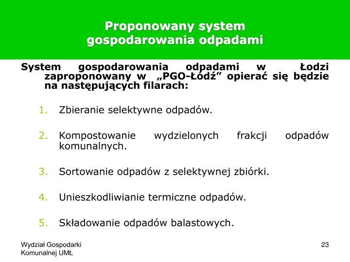 Proponowany system