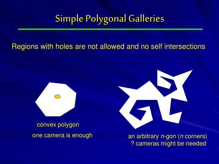 Simple Polygonal Galleries