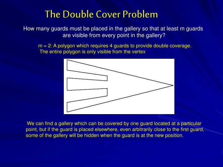 The Double Cover Problem