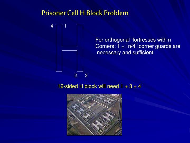 Prisoner Cell H Block Problem