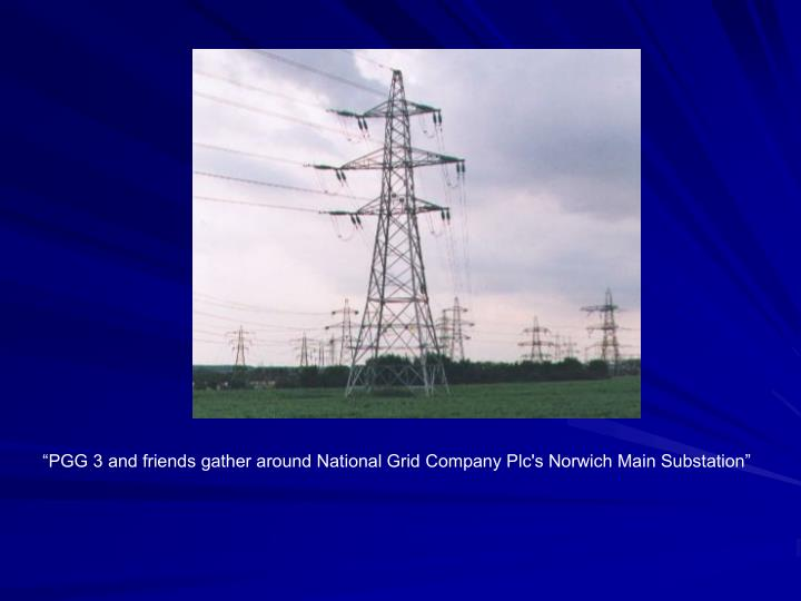"""""""PGG 3 and friends gather around National Grid Company Plc's Norwich Main Substation"""""""