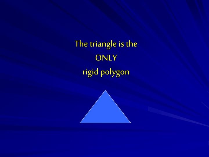 The triangle is the