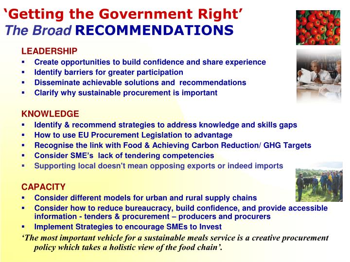 'Getting the Government Right'