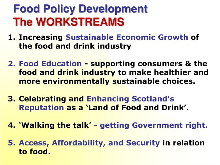 Food Policy Development