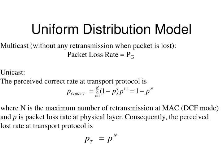Uniform Distribution Model
