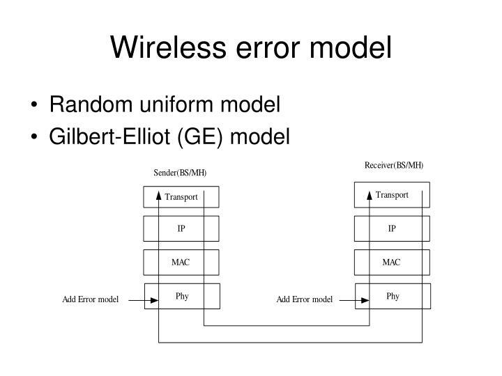 Wireless error model