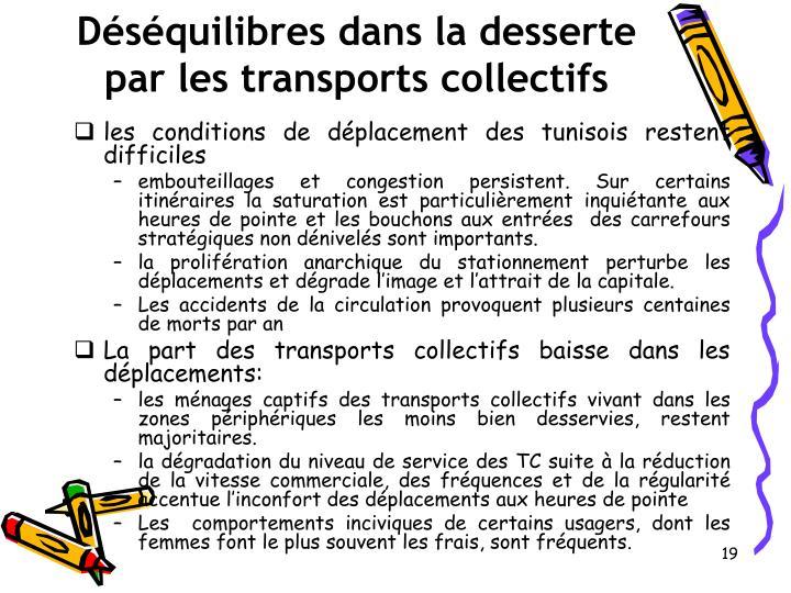 Déséquilibres dans la desserte par les transports collectifs