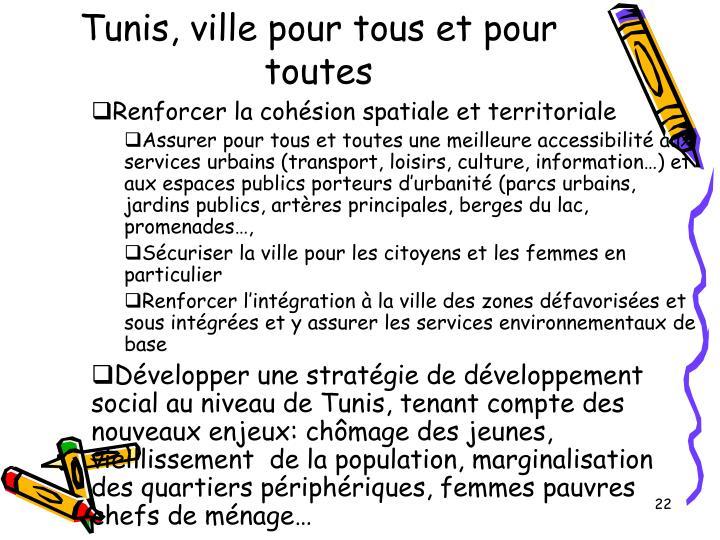 Tunis, ville pour tous et pour toutes