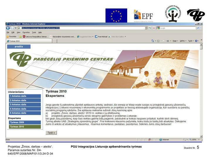 PGU integracijos Lietuvoje apibendrinantis tyrimas