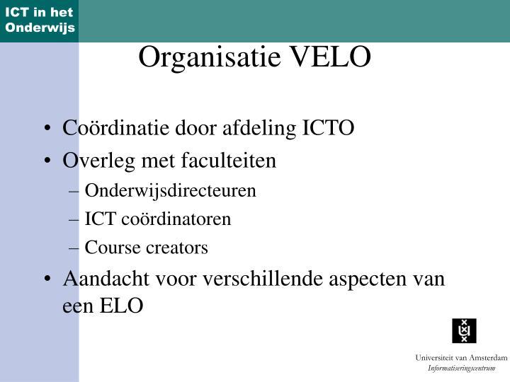 Coördinatie door afdeling ICTO